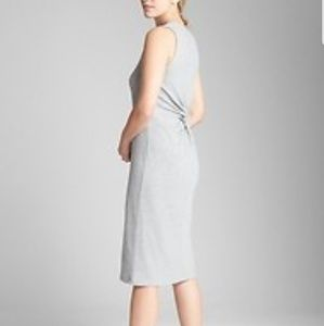 NWT Gap Ribbed Knot Softspun Midi Dress Twist Back